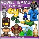 Long E Vowel Team - 'ey' - Clip Art Bundle {Educlips Clipart}