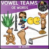 Long O Vowel Team 'oe' - Clip Art Bundle {Educlips Clipart}