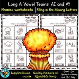 Long Vowel Teams: AY -AI Worksheets