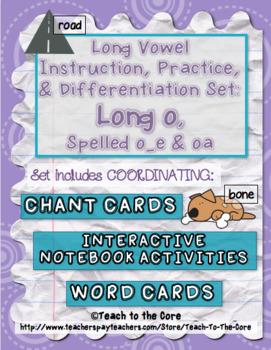Long Vowel Teams Activities: Long o, Spelled o_e & oa