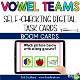 Long Vowel Teams - Digital Task Cards | Boom Cards | Dista
