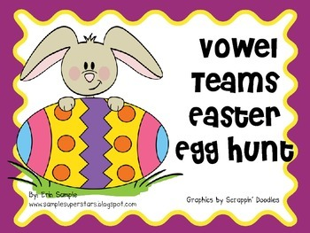 Long Vowel Teams Easter Egg Hunt