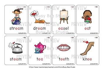 Long Vowel Teams Flash Cards Bundle