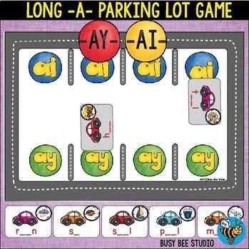 Long Vowel Teams Games Bundle: Parking Lot