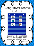 Long Vowel Teams: IE  & IGH (Color and B&W)