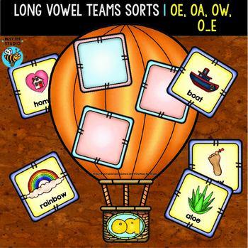 Long Vowel Teams O Sorts | oa, oe, ow, o-e