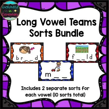 Long Vowel Teams Sorts Bundle