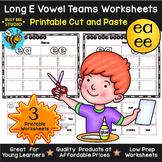 Long Vowel Teams Sorts: EE -EA | Cut and Paste Worksheets