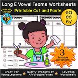 Long Vowel Teams Sorts: EE-EA-EY | Cut and Paste Worksheets