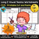 Long Vowel Teams Sorts: IE-IGH-Y   Cut and Paste Worksheets