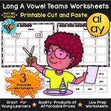 Long Vowel Teams Sorts: ay -ai   Cut and Paste Worksheets