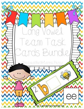 Long Vowel Teams Task Cards Bundle