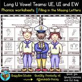 Long Vowel Teams: UE, UI, EW Worksheets