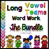 Long Vowel Teams Word Work Packet Bundle
