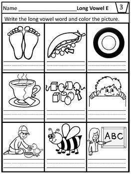 Long Vowel Teams Worksheets- Print and Go