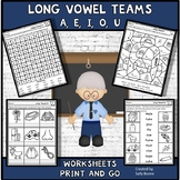 Vowel Teams Worksheets Long Vowel Review- Print and Go