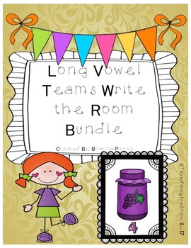 Long Vowel Teams Write the Room Bundle