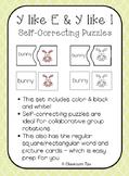 Long Vowel Teams: Y like E & Y like I Self-Correcting Puzzles