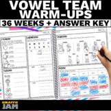Long Vowel Teams and Diphthongs Warm Ups   Daily Phonics P