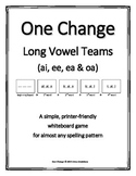 """Long Vowel Teams (ao, ai, ee, ea)- """"One Change"""" Whiteboard Game  (free round)"""