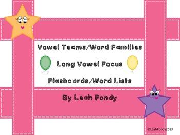 Long Vowel Teams/Word Families