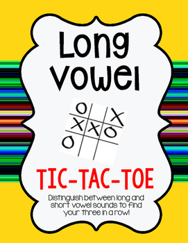 FREEBIE! Long Vowel Tic-Tac-Toe