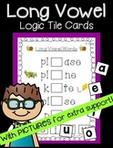 Long Vowel Logic Tile Cards: with Pictures (Great for ELD!)