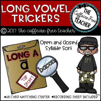 Long Vowel Trickers- Open and Closed Syllable Word Sort