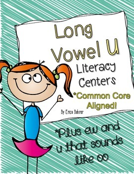 Long Vowel U, ew, and oo (as in cool) Literacy Centers