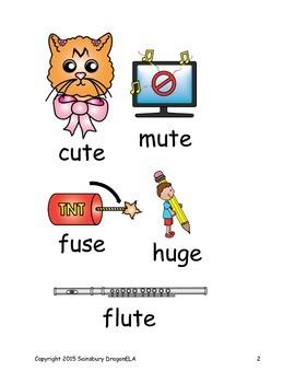 Long Vowel U Word Families Homework