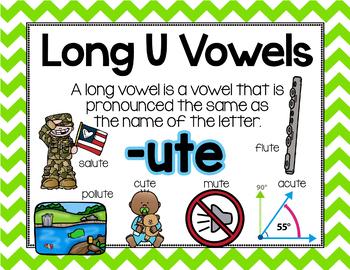 Long Vowel U Word Work {BUNDLE Word Family}