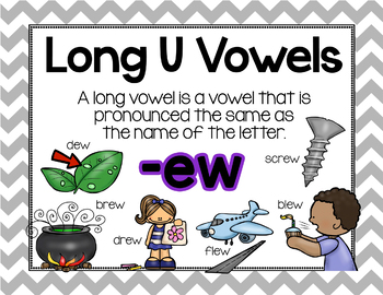 Long Vowel U Word Work {-ew Word Family}