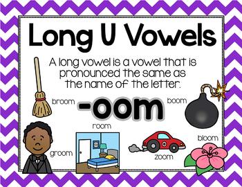 Long Vowel U Word Work {-oom Word Family}