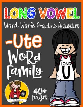 Long Vowel U Word Work {-ute Word Family}