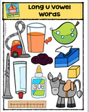 Long Vowel  U Words {P4 Clips Trioriginals Digital Clip Art}