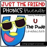Long Vowel U (cvce) Craftivity, Phonics Friends Character