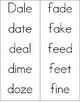 Long Vowel Word Cards
