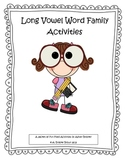 Long Vowel Word Families Activity