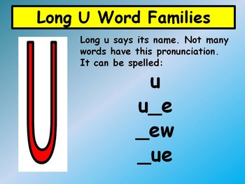 Long Vowel Word Families Complete Set