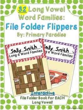 Word Family Long Vowel: File Folder Flippers