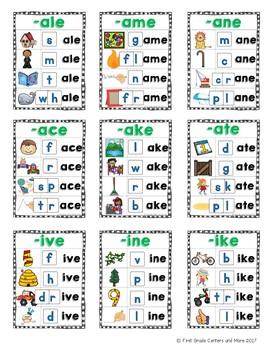Long Vowel Word Families Mats