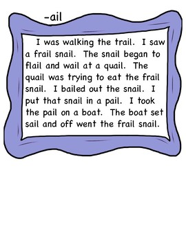 Long Vowel Word Families-Silly Stories
