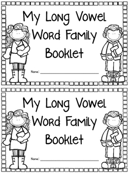 Long Vowel Word Family Booklet