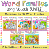 Long Vowel Word Family Bundle | Printable Activities, Cent
