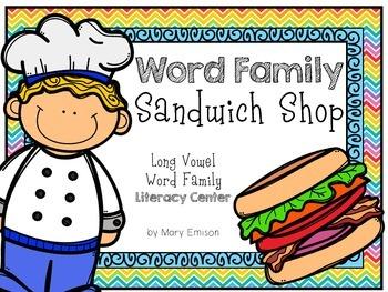 Long Vowel Word Family Center