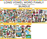 Long Vowel Word Family Clip Art GROWING BUNDLE
