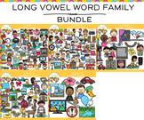 Long Vowel Word Family Clip Art  BUNDLE