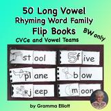 Long Vowel Word Family Flip Books in BW Only