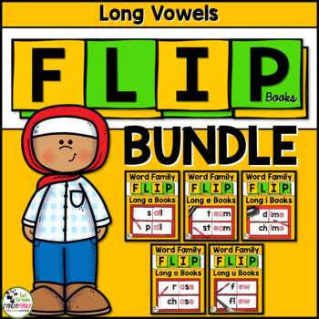 Long Vowel Word Family Flip Books BUNDLE