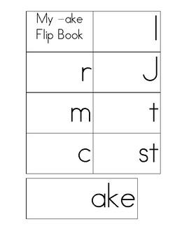 Long Vowel Word Family Flip Books Pack